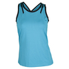 TAIL Women`s Nyla Racerback Tennis Tank Blue Atoll