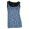 TAIL Women`s Erissa Tennis Tank Playful Blue Space Dye