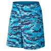 NIKE Men`s Gladiator 9 Inch Printed Tennis Short Stratus Blue and White