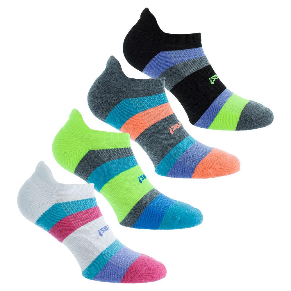High Performance Light Multi- Stripe No Show Tab Socks