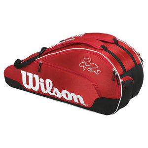 WILSON FEDERER TEAM 6 PACK TENNIS BAG RED