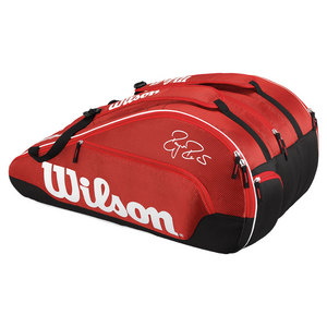 Federer Team 12 Pack Tennis Bag Red