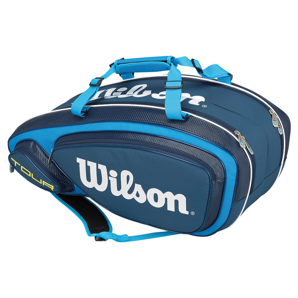 tennis express wilson tour v 9 pack tennis bag blue