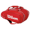 WILSON Tour V 9 Pack Tennis Bag Red