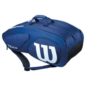 WILSON TEAM II 12 PACK TENNIS BAG NAVY