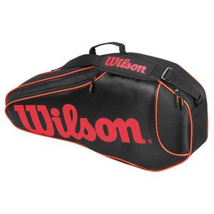 WILSON BURN TEAM TRIPLE TENNIS BAG BLACK/ORANG