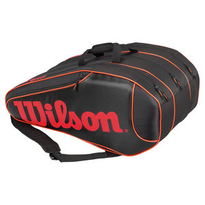 WILSON BURN TEAM 12 PACK TENNIS BAG BLACK/ORANG