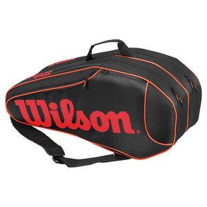 WILSON BURN TEAM 6 PACK TENNIS BAG BLACK/ORANG