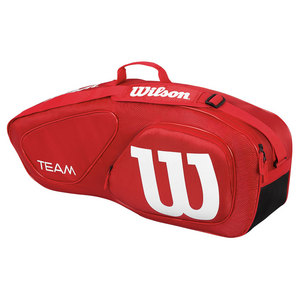Team II Triple Tennis Bag Red and White
