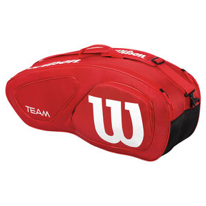 WILSON TEAM II 6 PACK TENNIS BAG RED/WHITE
