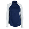 JOFIT Women`s Long Sleeve Mock Tennis Top Blue Depth