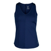 Women`s V Neck Tennis Tank Blue Depth by JOFIT