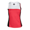 BOLLE Women`s Heat Wave Colorblock Tennis Tank Bolle Red and White
