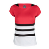 BOLLE Women`s Heat Wave Cap Sleeve Tennis Top Bolle Red and Black