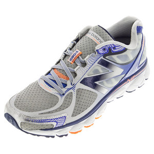 Men`s 1080v5 Running Shoes Silver and Optic Blue