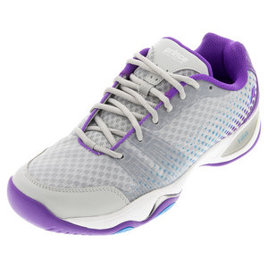 Women`s T22 Lite Tennis Shoes Gray and Purple