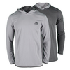 ADIDAS Men`s ClimaCore Reversible Hoodie Solid Gray