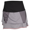 LUCKY IN LOVE Women`s Long Grid Tier Tennis Skort Black