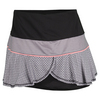 LUCKY IN LOVE Women`s Barcode Flounce Tennis Skort Black