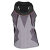 LUCKY IN LOVE Women`s Off the Grid Racerback Tennis Tank Black