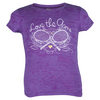 Girls` Love the Game Tennis Tee PURPLE