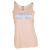 LOVEALL Women`s Party at the Net Tennis Tank Vintage Orange