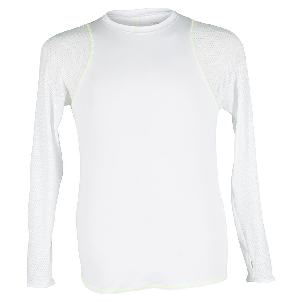 Gils ` Long Sleeve Tennis Crew White