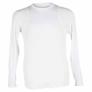 Gils` Long Sleeve Tennis Crew White