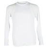 LUCKY IN LOVE Gils` Long Sleeve Tennis Crew White