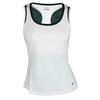 Girls` Heritage Sleeveless Tennis Tank 100_WHITE/PEACOAT