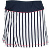FILA Women`s Heritage Striped Tennis Skort Peacoat and White
