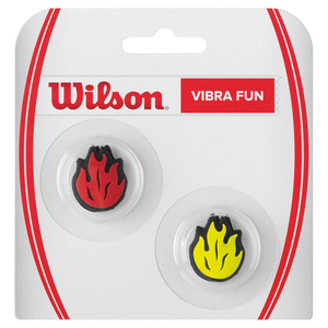 Vibra Fun Tennis Dampeners Red Fire and Yellow Fire