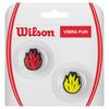 WILSON Vibra Fun Tennis Dampeners Red Fire and Yellow Fire