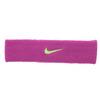 NIKE Swoosh Headband Fireberry and Atomic Green