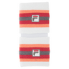 FILA Women`s illusion Tennis Wristband Coral Slope and Peach Poise