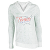 LOVEALL Women`s Tennis State of Mind Hoodie White Burnout