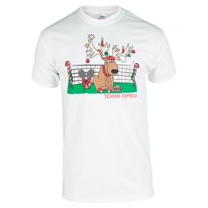 Unisex Tennis Reindeer Tee White