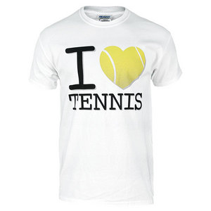I Love Tennis Unisex Tee in White