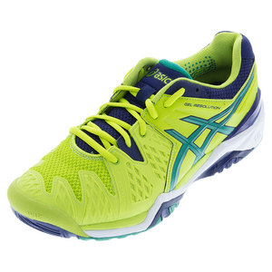 Men`s Gel-Resolution 6 Tennis Shoes Lime and Pine