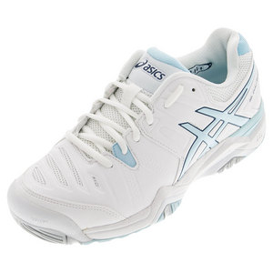 Women`s Gel-Challenger 10 Tennis Shoes White and Crystal Blue