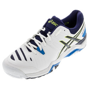 Men`s Gel-Challenger 10 Tennis Shoes White and Lime