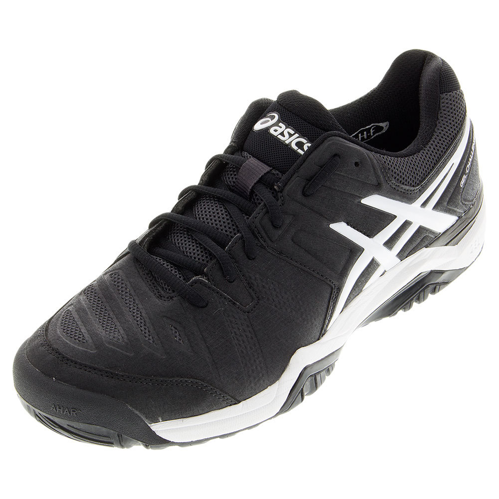 asics s gel challenger 10 tennis shoes black and white