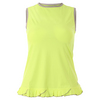 SOFIBELLA Women`s Sweet Pea Petal Sleeveless Tennis Top Electric
