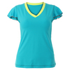 SOFIBELLA Women`s Sweet Pea Classic Mock Sleeve Top Ultra Marine