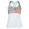 DENISE CRONWALL Women`s Deco Racerback Tennis Top White