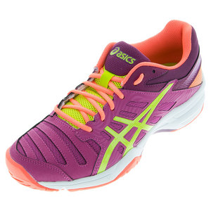 Women`s Gel-Solution Slam 3 Tennis Shoes Berry and Lime