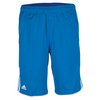 ADIDAS Boys` Club Bermuda Tennis Short Shock Blue and White