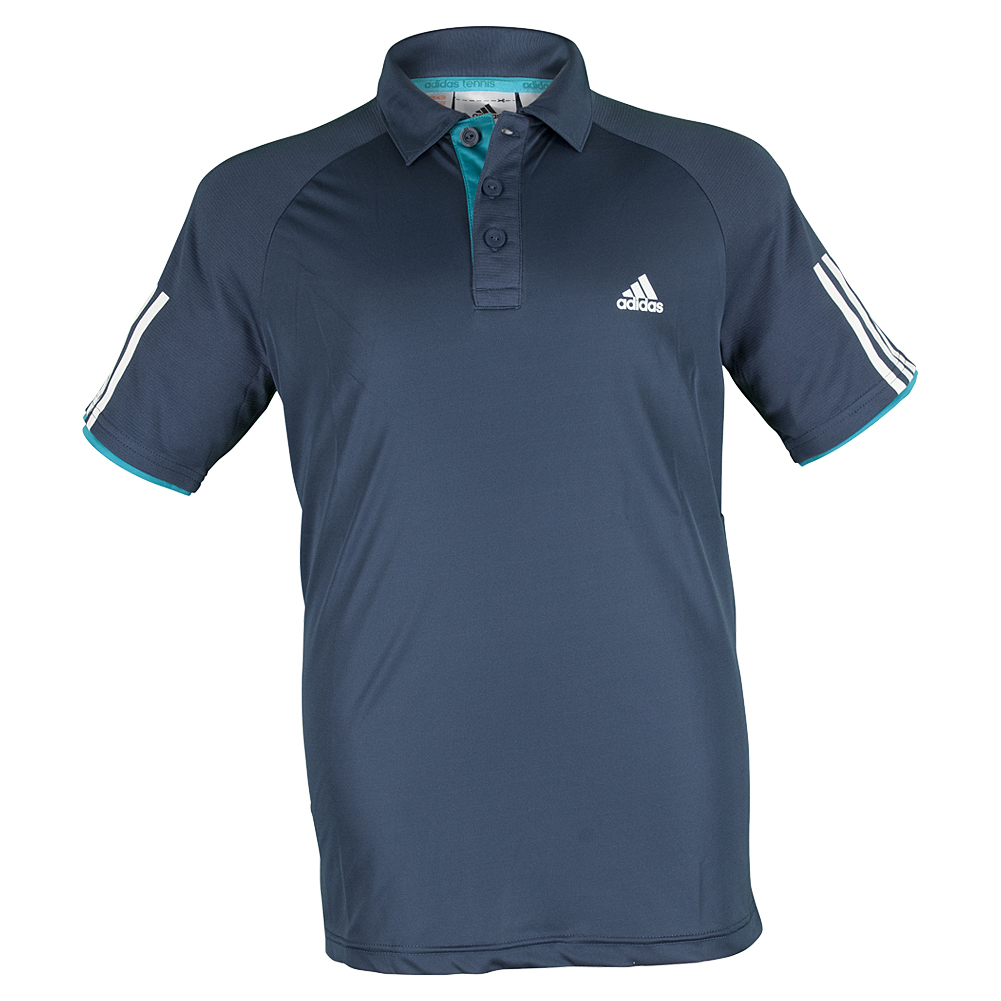 Boys ` Club Tennis Polo Mineral Blue And White