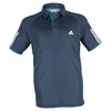ADIDAS Boys` Club Tennis Polo Mineral Blue and White