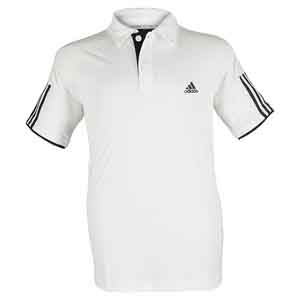 Boys` Club Tennis Polo White and Black